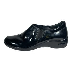 Cole Haan NikeAir Black Patent Leather Clogs Sz 8B
